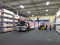 0110プレカット工場の材料と製品の保管用ラック (株)ミヨシ産業