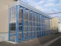 0118 出荷前製品の一時保管と乾燥材の養生乾燥を目的とした屋外向け製品保管ラック 宮崎県S社