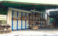 0133 都心型建材販売営業所の商品保管ラック 通商(株)東海支店