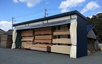 0152 屋外スペースを製品保管庫とするための屋外仕様ラック 松下製材(有)