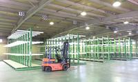 0153 長さ300mm~4000mmの木材を無駄なく収納できるバーラック ナイス(株)熊本物流センター