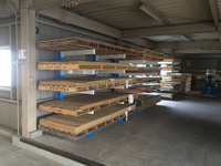 0169 3x6板と4x8板のメラミン合板のピッキング作業時間を短縮するためのラック 半井建材(株)