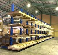 0170 輸入した集成材の仕分け用ラック 上地木材(株) 西部事業所