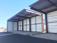 0180 製材製品を保管する大型片持ち屋根倉庫 (株)市川屋 フォレスト津久井