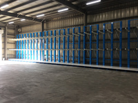 189 収納量UPと取り出し作業の効率化のためのラック(株)大分ベニヤ商会