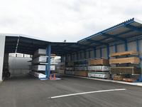 193 資材倉庫を兼用した大型屋根付きラック (株)マルサン 郡山事業所