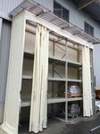 194 箱物を保管するための屋根壁付パレットラック (株)富山合同木材市場