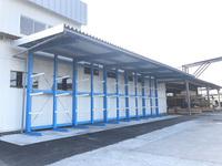 201 製品を一時保管するための大型屋根付きラック (有)マルヒ製材