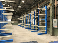 219 無人フォークリフト(AGV)で荷役するための製品保管ラック A社