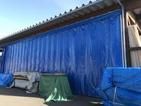 231 大型開口できる雨避け風避け芯材カーテン (株)阿久津材木店