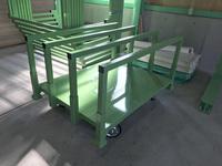265 合板加工機で加工した製品を邸別に仕分ける為のラック A社