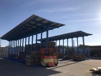 285 木材の雨除け・日焼け防止と作業効率を上げ素早く取り出しするバーラック A社