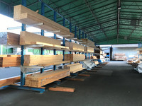 287 住宅用構造材を安全に効率よく保管できる固定式バーラック (株)全木商 茨城工場