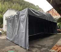 302 プラスチック(合成樹脂)を収納するための移動式簡易テント A社