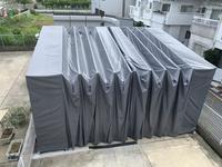 315 倉庫外の製品を急な雨から守る移動式簡易テント (株)昭栄製作所