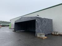 327 木材・建材を仮置きできる簡易伸縮式テント ナイス物流(株)岡山物流センター