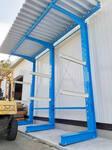 337 屋外保管 社寺建築用木材を保管するためのバーラック(キャンチレバーラック) A社