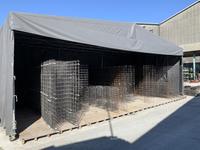 342 鉄配筋を雨から守り錆を防ぐ簡易的な屋根付き倉庫 A社