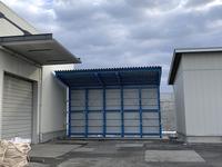 346 雨風を防ぐ一時保管用の大型屋根付きラック (有)サンハイツ