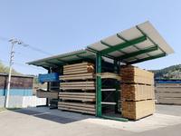 355 製材品の屋根付き乾燥養生ラック(有)浜中材木店